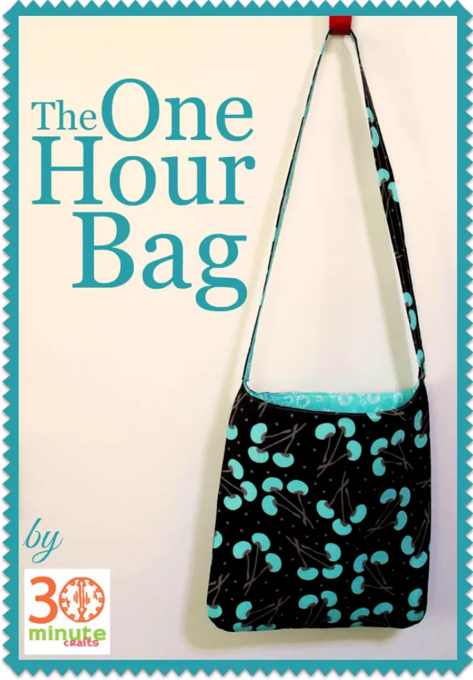 1 hour bag beginning sewing project