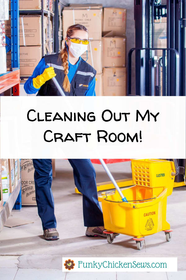 Cleaning My Craft Room