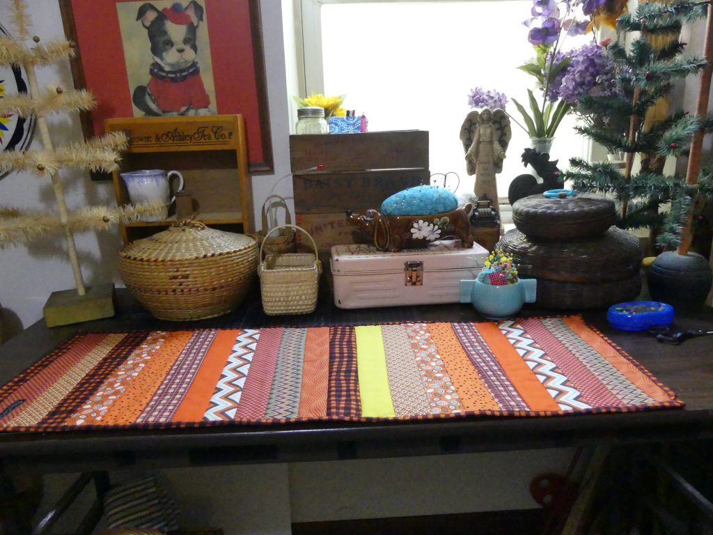 Scrappy Table Runner For Fall