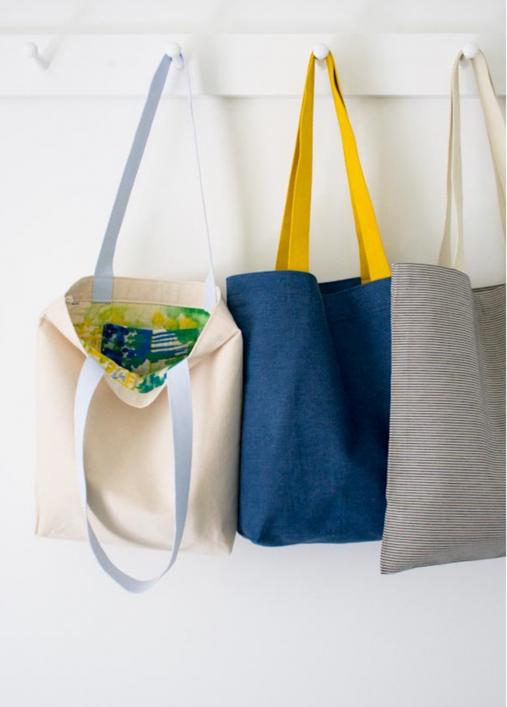 Purlsoho Tote Bag project for beginners