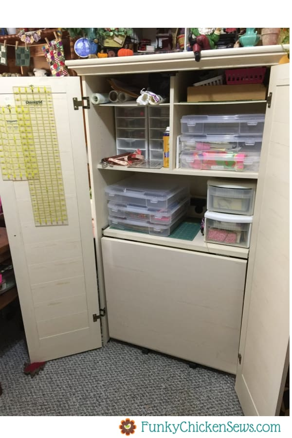 Sewing Room Storage Ideas Armorie Cabinet