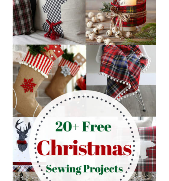 20 Free Rustic Christmas Sewing Projects