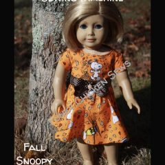 How To Make American Girl Doll Clothes with Sewing Machine Fall Dress