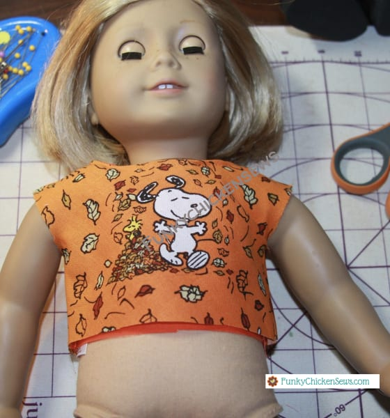 How to make American Girl Doll Dress with sewing machine