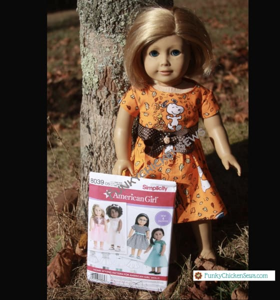 How to sew American Girl Doll Clothes Fall Dress